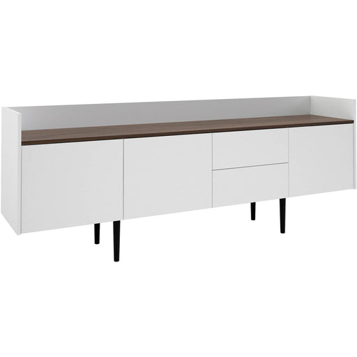 Unit Sideboard 2 Drawers 3 Doors in White and Walnut - Simply Utopia