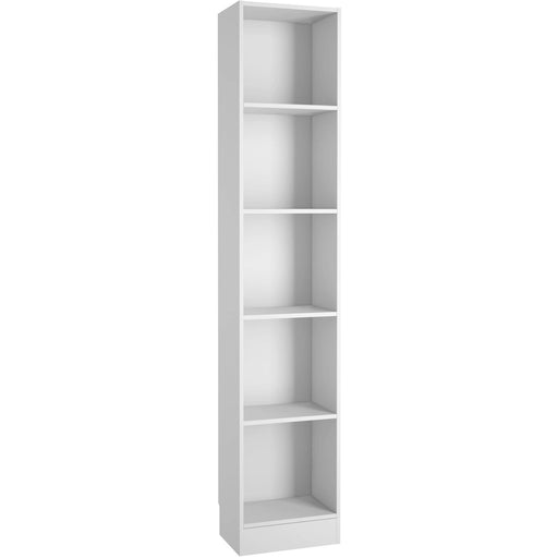 Basic Tall Narrow Bookcase (4 Shelves) in White - Simply Utopia