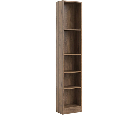 Basic Tall Narrow Bookcase (4 Shelves) in Walnut - Simply Utopia