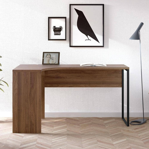 Function Plus Corner Desk 2 Drawers in Walnut - Simply Utopia