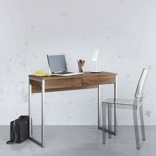 Function Plus Desk 2 Drawers in Walnut - Simply Utopia