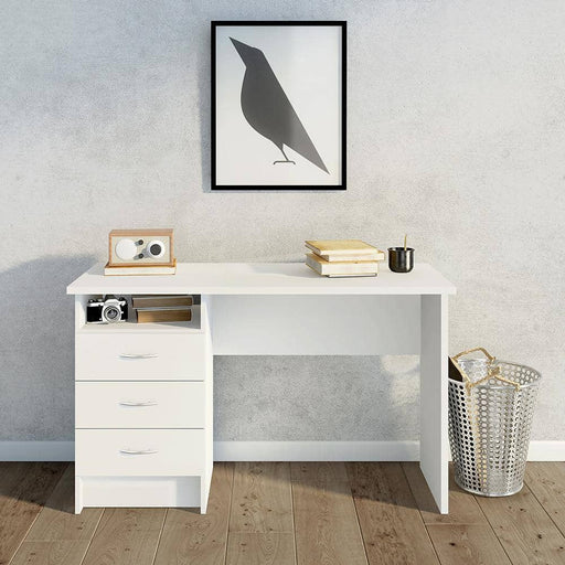 Function Plus Desk 3 Drawers in White - Simply Utopia