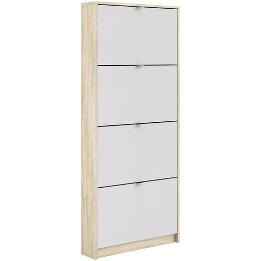 Shoe Cabinet With 4 Tilting Doors And 3 Shelves - Simply Utopia
