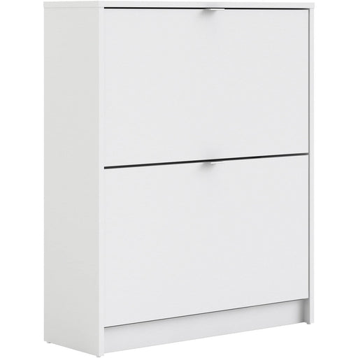 Shoe Cabinet With 2 Tilting Doors And 2 Shelves - Simply Utopia