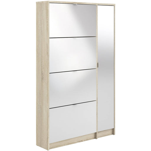 Shoe Cabinet With 4 Tilting Doors And 2 Shelves - Simply Utopia