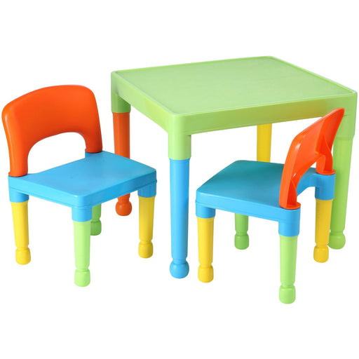 Children's Multi-Coloured Table & 2 Chairs Set - Simply Utopia
