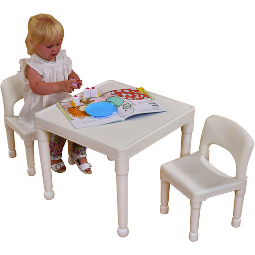 Children's White Table & 2 Chairs Set - Simply Utopia