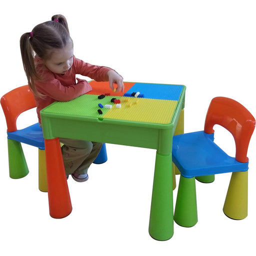 5 in 1 Multipurpose Activity Table & 2 Chairs - Multicoloured - Simply Utopia