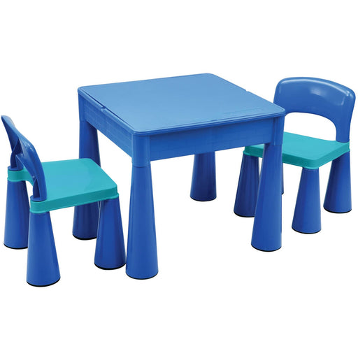 5 in 1 Multipurpose Activity Table & 2 Chairs - Blue - Simply Utopia