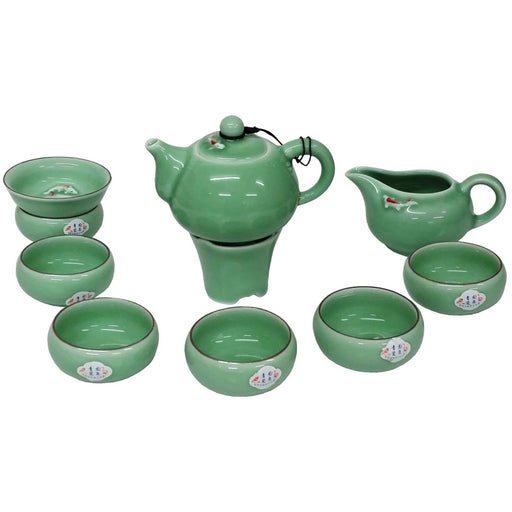 Koi Fish Green Porcelain Teaset - Simply Utopia