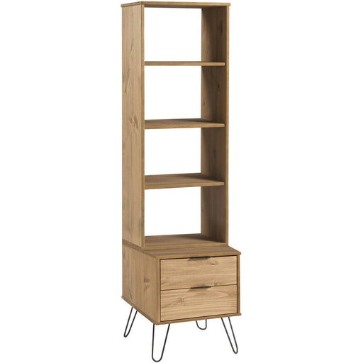 Augusta narrow bookcase with 2 drawers - Simply Utopia