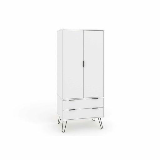 Augusta White 2 Door, 2 Drawer Wardrobe - Simply Utopia