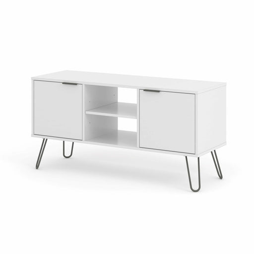 Augusta White 2 Door Flat Screen TV Unit - Simply Utopia