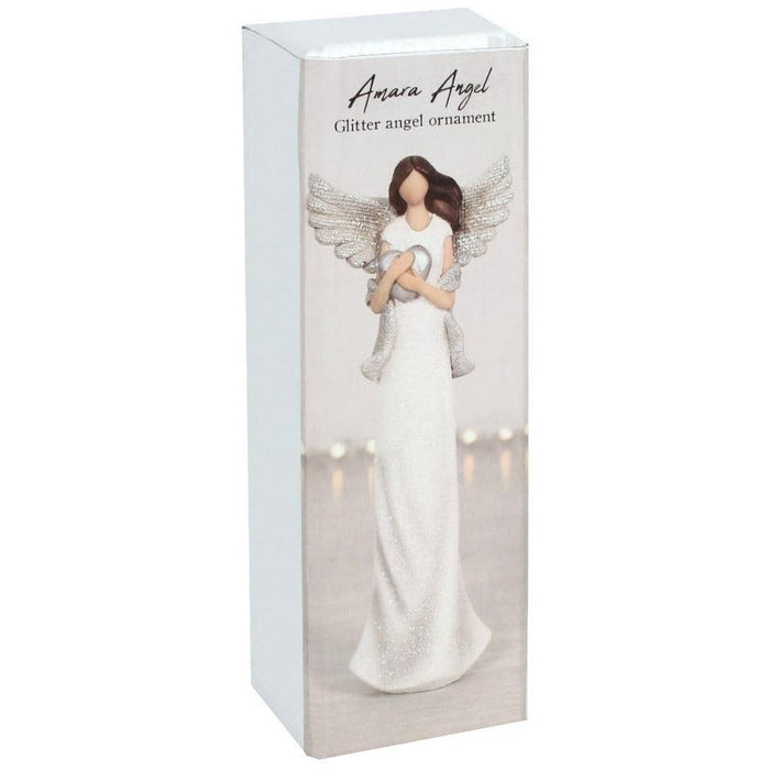 Amara Medium Glitter Angel Ornament - Simply Utopia