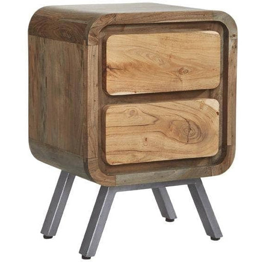 Aspen Retro Style Lamp Drawer Table - Simply Utopia