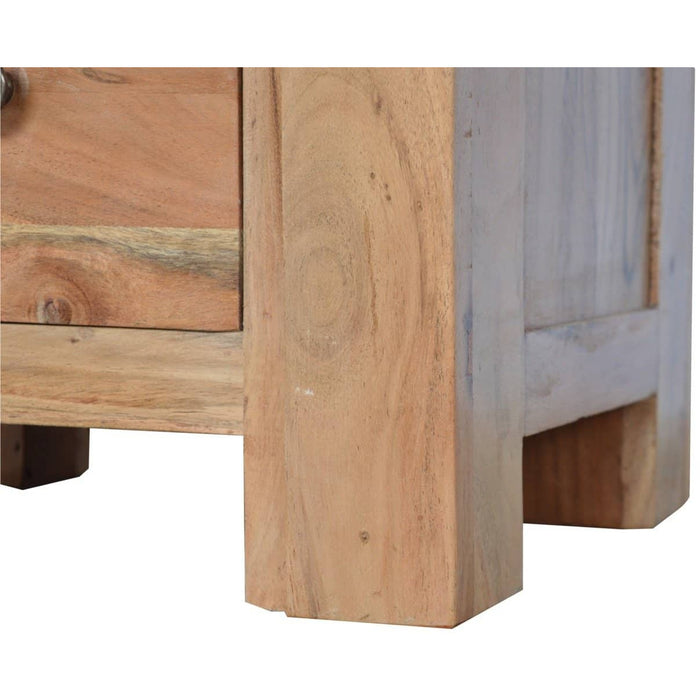 Boston Solid Acacia Wood 2 Drawer Bedside - Simply Utopia