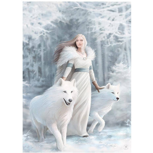 50x70cm Winter Guardians Canvas Plaque by Anne Stokes - Simply Utopia