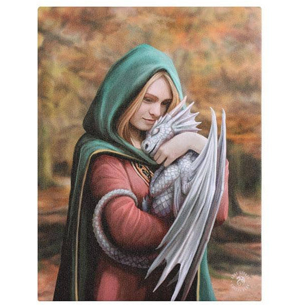 Safe Haven Canvas Plaque by Anne Stokes 19x25cm - Simply Utopia
