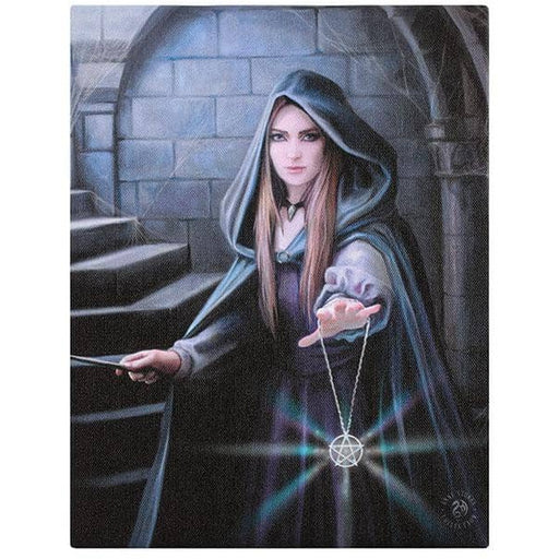 Light in the Darkness Canvas Plaque by Anne Stokes 19x25cm - Simply Utopia
