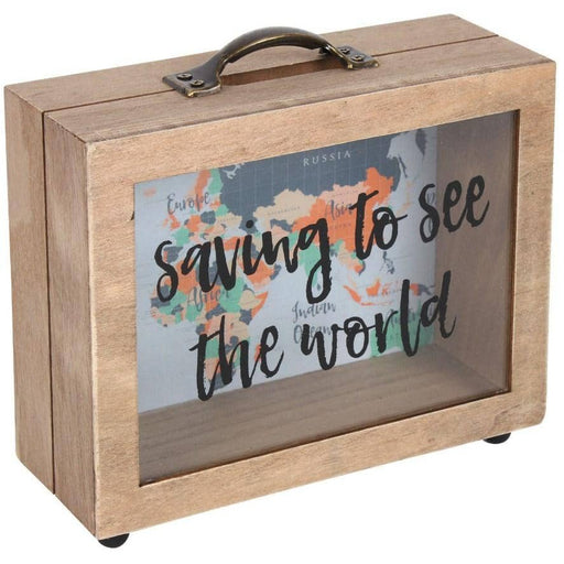 Saving to See the World Money Box - Simply Utopia