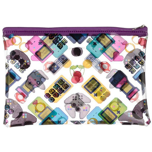 Handy Clear PVC Toiletry Make-up Bag - Game Over Design - Simply Utopia