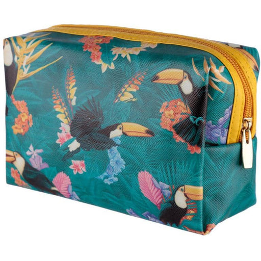 Handy PVC Make Up Toiletry Wash Bag - Tropical Toucan Design - Simply Utopia