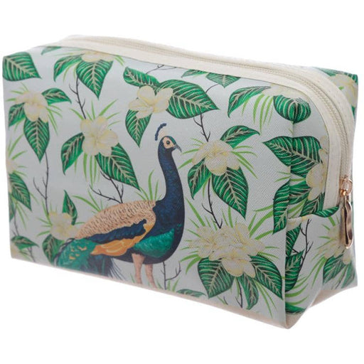 Handy PVC Make Up Toiletry Wash Bag - Peacock - Simply Utopia