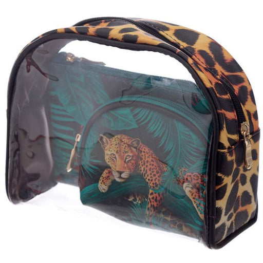 Big Cat Spots and Stripes Vanity Bag Set of 3 - Simply Utopia