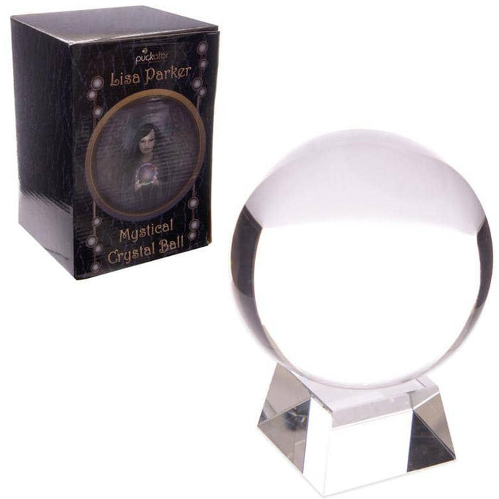 Decorative Mystical 10cm Crystal Ball with Stand - Simply Utopia
