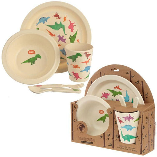 Bamboo Composite Dinosaur Kids Dinner Set - Simply Utopia