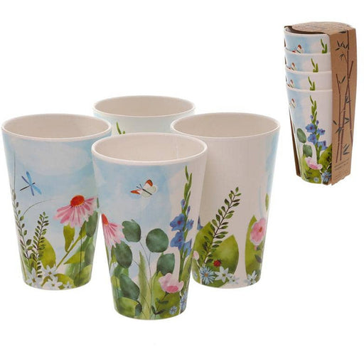 Bamboo Composite Botanical Gardens Set of 4 Cups - Simply Utopia