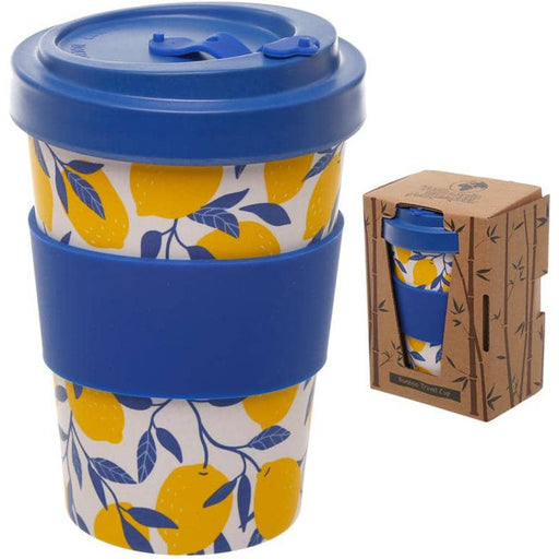 Bamboo Composite Lemons Screw Top Travel Mug - Simply Utopia
