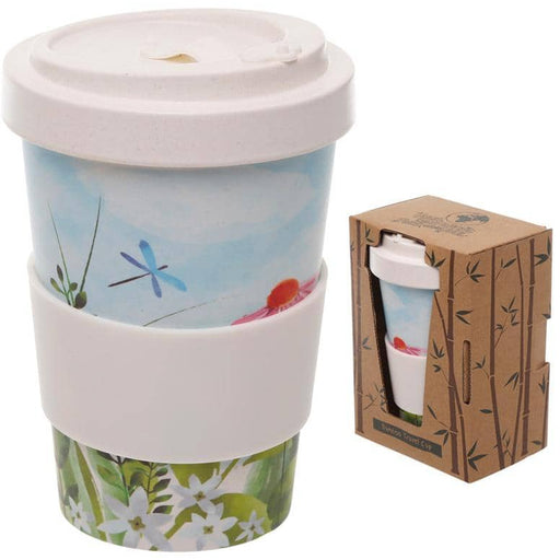 Bamboo Composite Botanical Gardens Screw Top Travel Mug - Simply Utopia