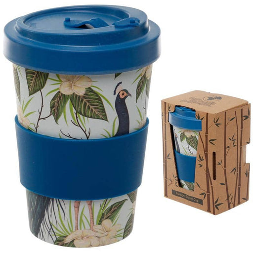 Bamboo Composite Peacock Screw Top Travel Mug - Simply Utopia