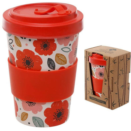Bamboo Composite Poppy Fields Screw Top Travel Mug - Simply Utopia