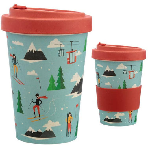 Bamboo Composite Peak Season Ski Screw Top Travel Mug - Simply Utopia