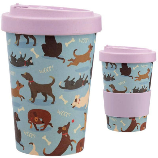 Bamboo Composite Catch Patch Dog Screw Top Travel Mug - Simply Utopia