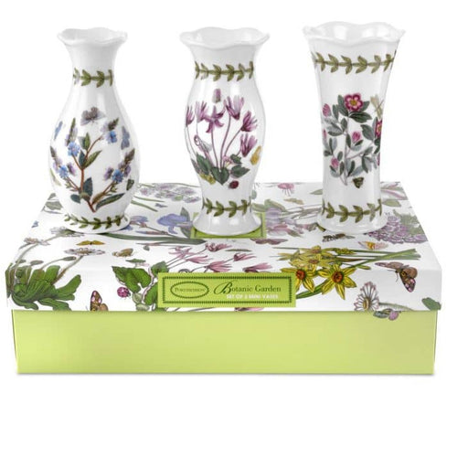 Portmeirion Botanic Garden Mini Vases Set of 3 - Simply Utopia