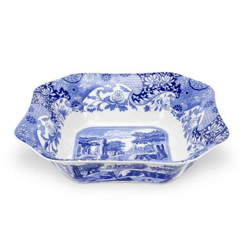 Spode This Blue Italian Square Salad Bowl - Simply Utopia