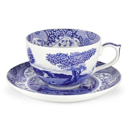 Spode Blue Italian Jumbo Cup and Saucer Boxed Set - Simply Utopia