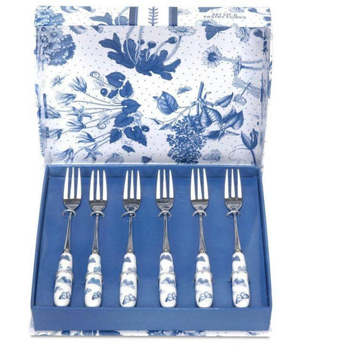 Portmeirion Botanic Blue Pastry Forks Set of 6 - Simply Utopia