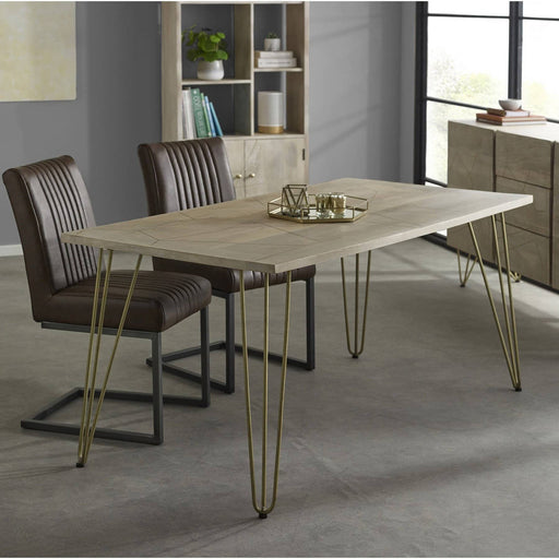 Light Gold Dining Table - Simply Utopia