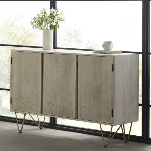 Light Gold Large Sideboard 3 Doors - Simply Utopia