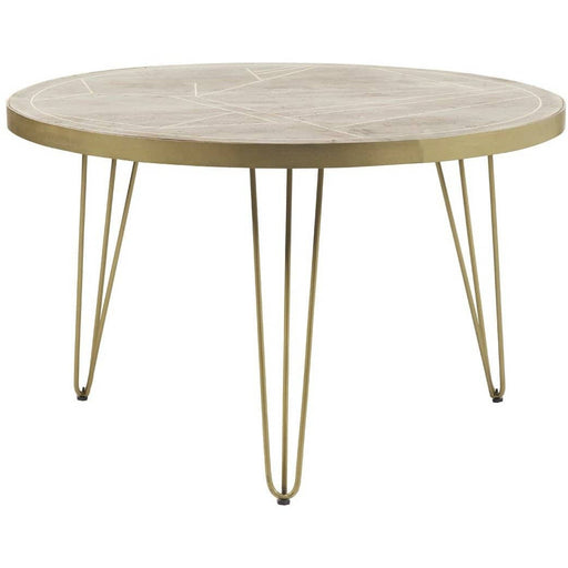 Light Gold Round Dining Table - Simply Utopia