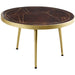 Dark Gold  Round Coffee Table - Simply Utopia