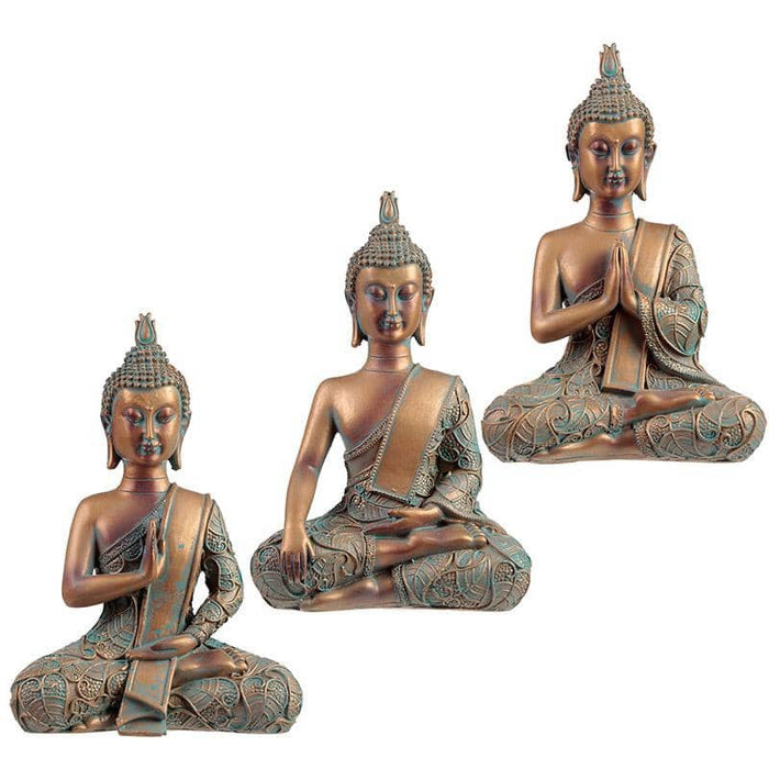 Decorative Copper & Verdigris Thai Buddha - Serenity - Simply Utopia