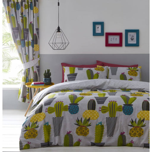 Cacti Pencil Pleat Curtains - Simply Utopia