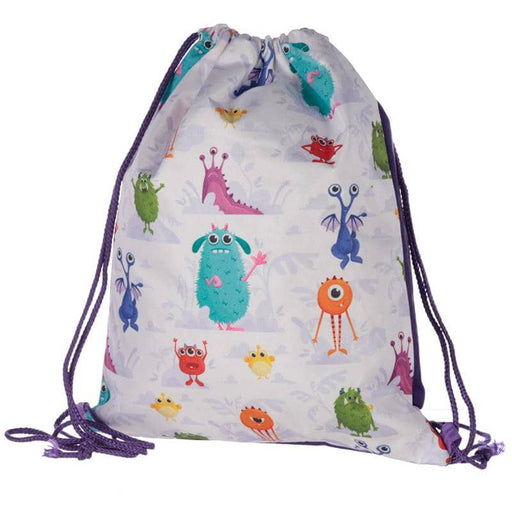 Handy Drawstring Bag - Fun Kids Monsters Design - Simply Utopia