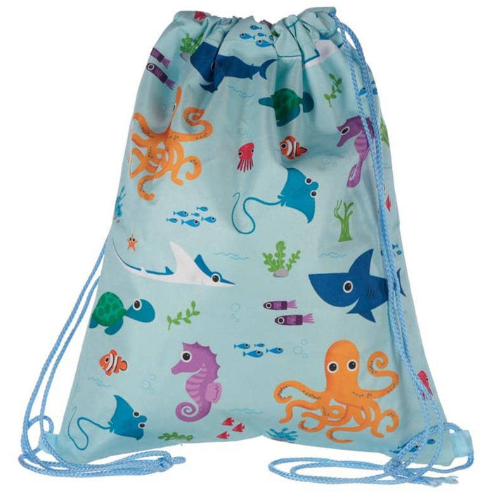 Handy Drawstring Bag - Fun Sealife Design - Simply Utopia