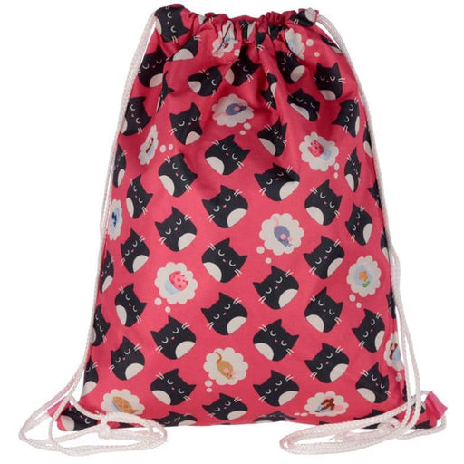 Handy Drawstring Bag - Cute Feline Fine Cat Design - Simply Utopia